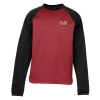 Performance Raglan Colorblock Crewneck Sweatshirt