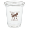 Compostable Clear Cup with Straw Slotted Lid - 12 oz.