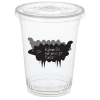 Compostable Clear Cup with Straw Slotted Lid - 16 oz.