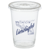 Compostable Clear Cup with Straw Slotted Lid - 10 oz. - LQ