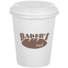Compostable Solid Cup with Traveler Lid - 12 oz. - Low Qty