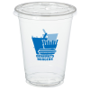 Crystal Clear Cup with Straw Slotted Lid - 16 oz - Low Qty