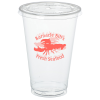 View Image 1 of 2 of Crystal Clear Cup with Straw Slotted Lid - 20 oz. - Low Qty