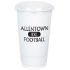 Economy White Plastic Cup with Straw Slotted Lid - 20 oz.