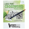 Large Print Crossword Puzzle Book & Pencil - Volume 2
