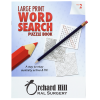 Large Print Word Search Puzzle Book & Pencil- Volume 2