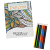 Stress Relieving Adult Coloring Book & Pencils - Patterns