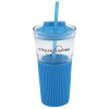 Chi Glass Tumbler with Straw - 15 oz.