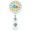 Smiley Face Spinner Retractable Badge Holder