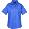 Harriton Twill SS Shirt with Stain Release - Ladies'