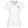Jerzees Blend 50/50 T-Shirt - Ladies' - White - Embroidered