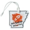 View Image 1 of 4 of Soft Vinyl Full-Color Luggage Tag - Arkansas