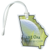View Image 1 of 4 of Soft Vinyl Full-Color Luggage Tag - Georgia