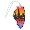 View Image 1 of 4 of Soft Vinyl Full-Color Luggage Tag - Illinois