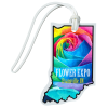 View Image 1 of 4 of Soft Vinyl Full-Color Luggage Tag - Indiana