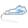 View Image 1 of 4 of Soft Vinyl Full-Color Luggage Tag - Kentucky