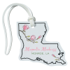 View Image 1 of 4 of Soft Vinyl Full-Color Luggage Tag - Louisiana