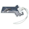 View Image 1 of 4 of Soft Vinyl Full-Color Luggage Tag - Massachusetts