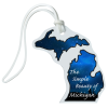 View Image 1 of 4 of Soft Vinyl Full-Color Luggage Tag - Michigan - Lower+Upper