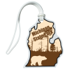 View Image 1 of 4 of Soft Vinyl Full-Color Luggage Tag - Lower Michigan