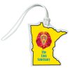 View Image 1 of 4 of Soft Vinyl Full-Color Luggage Tag - Minnesota