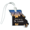 View Image 1 of 4 of Soft Vinyl Full-Color Luggage Tag - Missouri