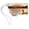 View Image 1 of 4 of Soft Vinyl Full-Color Luggage Tag - Montana