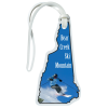 View Image 1 of 4 of Soft Vinyl Full-Color Luggage Tag - New Hampshire
