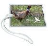 View Image 1 of 4 of Soft Vinyl Full-Color Luggage Tag - North Dakota