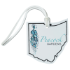 View Image 1 of 4 of Soft Vinyl Full-Color Luggage Tag - Ohio
