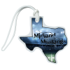 View Image 1 of 4 of Soft Vinyl Full-Color Luggage Tag - Texas