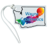 View Image 1 of 4 of Soft Vinyl Full-Color Luggage Tag - Washington