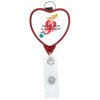 Retractable Badge Holder with Lanyard Attachment - Heart