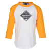 Colorblock 3/4 Sleeve Cotton Baseball T-Shirt - Youth