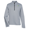 adidas 1/4 Heather 3-Stripes Pullover - Men's - Embroidered