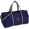 """View Image 1 of 2 of Cotton 22"""" Weekender Duffel - Embroidered"""