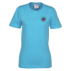 Soft Spun Cotton T-Shirt - Ladies' - Colors - Embroidered