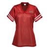 View Image 1 of 2 of Poly Mesh Jersey V-Neck T-Shirt - Ladies' - Embroidered