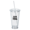 Light-up Double Wall Tumbler - 18 oz. - Multicolor - 24 hr