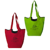 Reversible Hobo Tote With Zipper Pocket