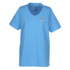 Hanes ComfortSoft V-Neck Tee-Ladies'-Emb–Colors