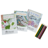 Stress Relieving Adult Coloring Book Gift Set