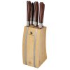 Laguiole 5 PC Knife Block Set - 24 hr