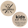 Wooden Nickel - Kids Eat Free - 24 hr