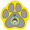 Cushioned Jar Opener - Paw - Full Color