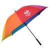 "View Image 1 of 4 of Eagle Fiberglass Golf Umbrella - Rainbow - 62"" Arc"