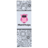 Coloring Bookmark - Floral