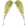 View Image 1 of 2 of Outdoor Value Sail Sign - 9-1/2' - Two Sided