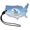 View Image 1 of 4 of Soft Vinyl Full-Color Luggage Tag - USA