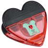 Full Color Heart Power Clip - Translucent